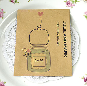 Seed Packet Place Setting And Favour - wedding favours