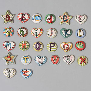Letter Magnets - children's room accessories