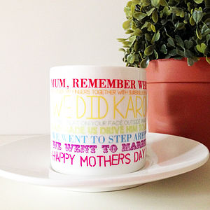 'Mum, Remember when…' Cup And Saucer