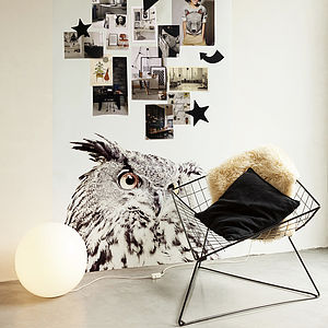 Owl Print Magnetic Wallpaper - home accessories
