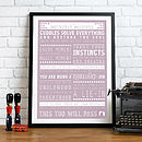 Bespoke 'New Parent' Framed Print