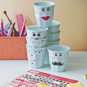 Make A Face Sticker Set Gift Wrapping - stationery