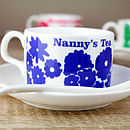 Personalised Flower Cup And Saucer Set