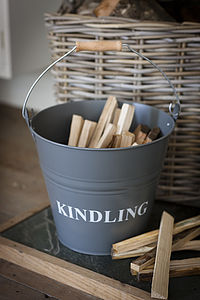 Kindling Bucket - feeling cosy - autumn home ideas
