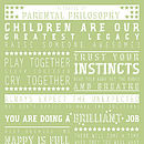 Personalised 'New Parent' Wisdom Print