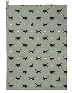 Cat Tea Towel - kitchen linen