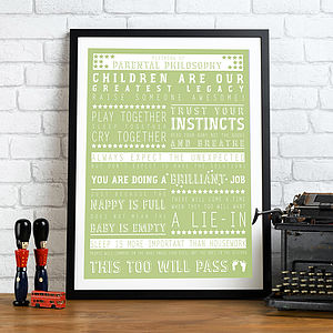 Personalised 'New Parent' Print - gifts for new parents