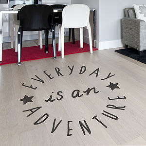 Positive Quote Floor Sticker - wall stickers by room