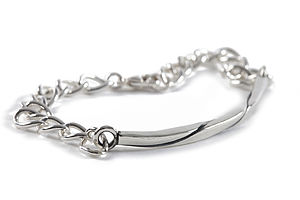Mens Sterling Silver ID Bracelet - view all father's day gifts