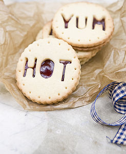 Eight Personalised Jammie Biscuits - biscuits