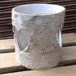 Birch Heart Candle Holders