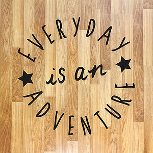 Positive Quote Floor Sticker - wall stickers