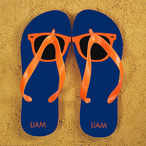 Personalised Wayfarer Style Flip Flops - our top 50 beach essentials