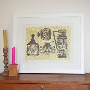 Retro Pots Screen Print