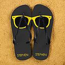 Personalised Wayfarer Style Flip Flops