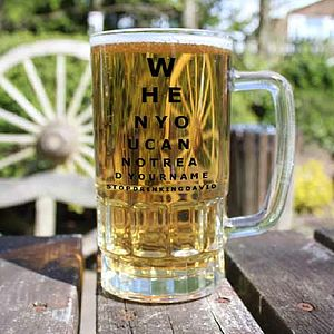 Opticians Chart Beer Tankard - drink & barware