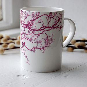 Fuchsia Birdsong Bone China Mug