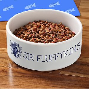 Personalised Crest Pet Bowl - cats