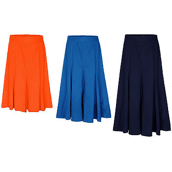 Cotton Poplin Fully Lined Swish Skirt