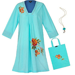 Pale Aqua Portofino Tunic Dress Set - dresses