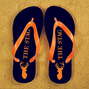 Stag Party Personalised Flip Flops - stag do styling & gifts