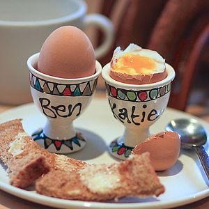 Personalised Hand Painted Egg Cup - kitchen