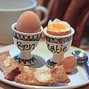 Personalised Hand Painted Egg Cup