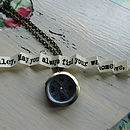 Compass Locket With Secret Message