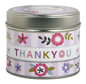 'Thank You' Scented Candle In A Tin - candles