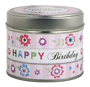 'Happy Birthday' Scented Greeting Candle - candles