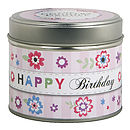 'Happy Birthday' Scented Greeting Candle