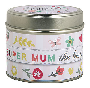 'Super Mum' Scented Greeting Candle
