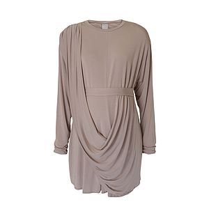 Belted Drape Front Tunic - tops & t-shirts