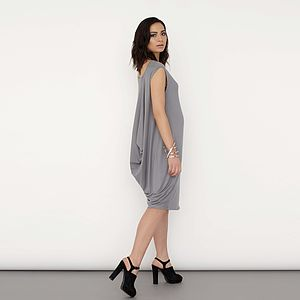 Luxe Draped Back Dress - women's fashion