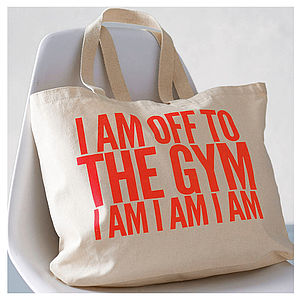 'Off To The Gym' Bag, Neon Coral - bags & purses