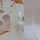 Sterling Silver Bird's Nest Necklace