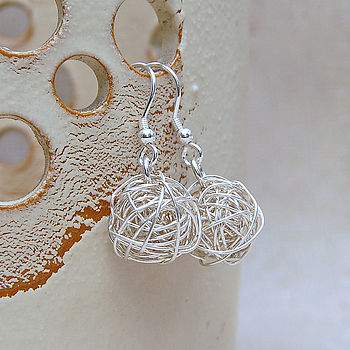 Sterling Silver 'Bird's Nest' Earrings