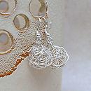 Sterling Silver 'Bird's Nest' Earrings