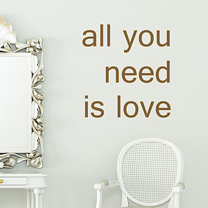'All You Need Is Love' Wall Sticker