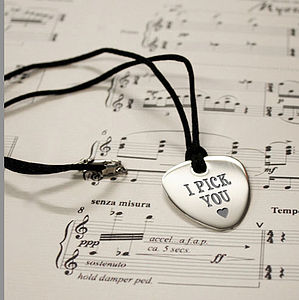 Personalised Guitar Plectrum Pendant
