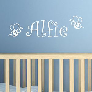 Bees Personalised Name Wall Sticker - wall stickers