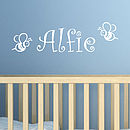Bees Personalised Name Wall Sticker