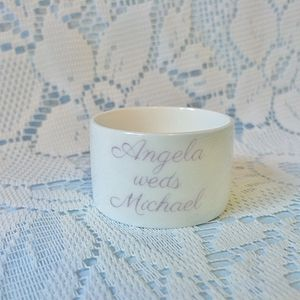 Personalised China Tea Light Holder - candles & candlesticks