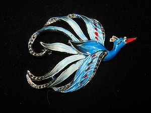 1950's Bird Of Paradise Brooch