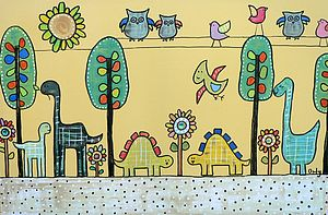 Children's Wall Art With Jewel Beads
