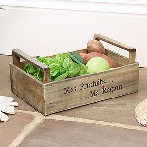 Grow Your Own Produce Storage Crate - boxes, trunks & crates