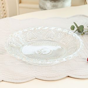 Heart Versaille Glass Dessert Plate - crockery & chinaware