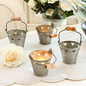 Wedding Table Heart Tea Light Bucket - table decoration
