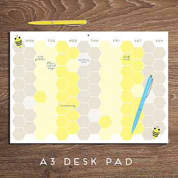 Busy Bee Weekly Planner Pad A3