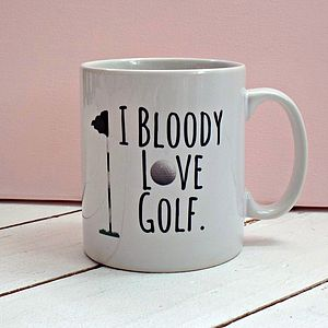 'Bloody Love Golf' Mug - tableware